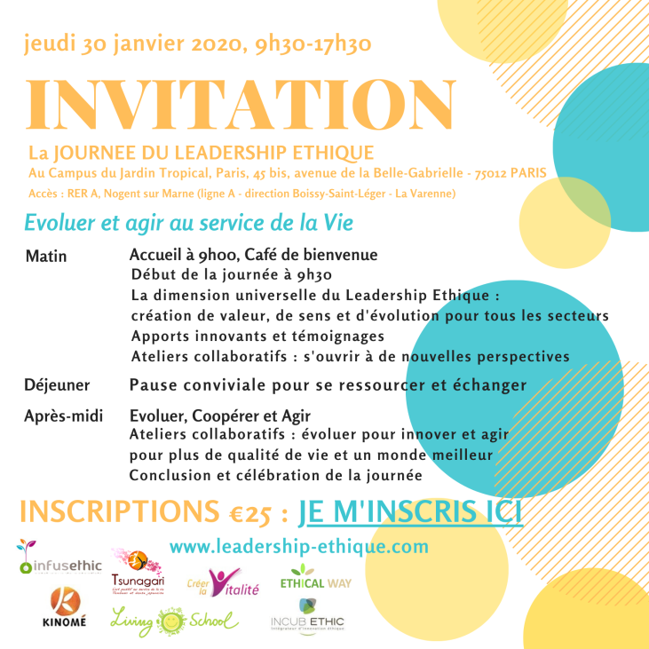 Invitation Journée Leadership Ethique 30.01.2020