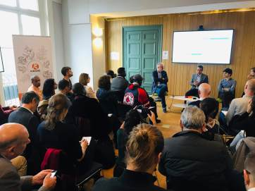 Rencontre cacao organisée par Kinomé sur la thématique de mieux travailler en collectif d'acteurs pour produire du cacao à impact positif ( https://kinome.fr/rencontres/cacao-a-impact-positif-31-octobre-2019/)